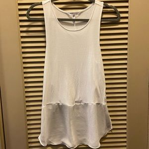 BCBGeneration White Tank Top w/ Sheer Detail Small